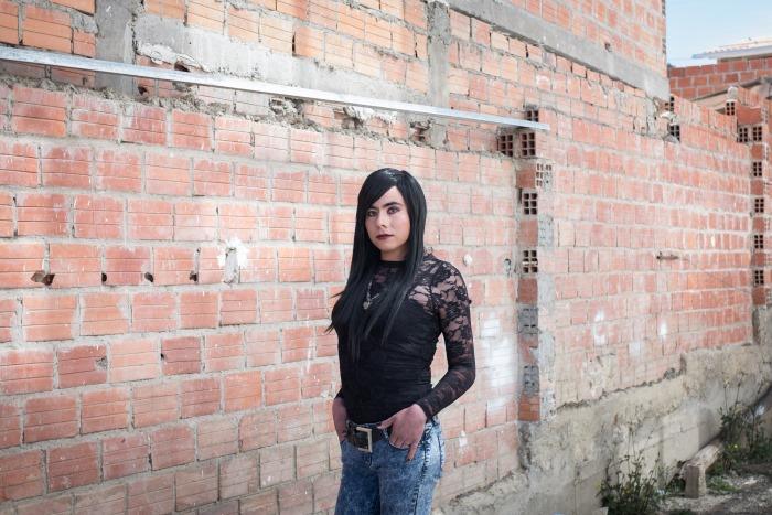 Gabriela dans les rues de La Paz
