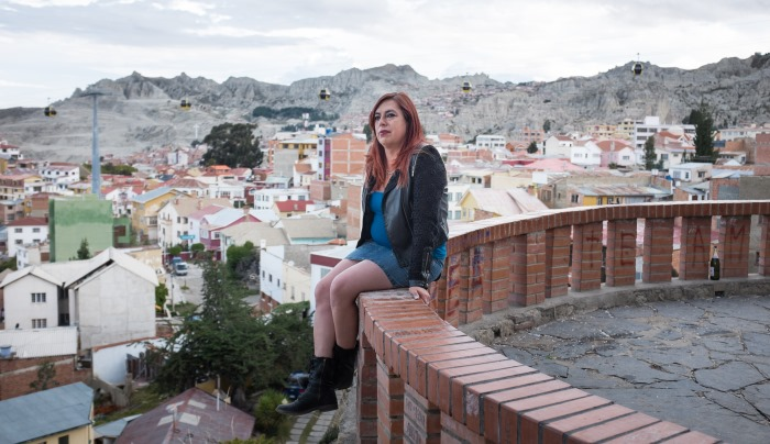 Tamara sur les hauteurs de La Paz