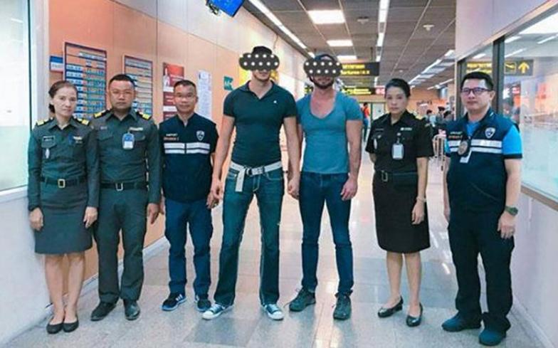 Le couple a été arrêté mardi par les officiers de l'immigration.